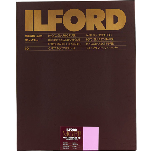 "Ilford Multigrade FB Warmtone Paper (Glossy, 9.5 x 12"" , 10 Sheets)"