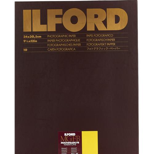 "Ilford Multigrade FB Warmtone Paper (Semi-Matt, 9.5 x 12"" , 10 Sheets)"