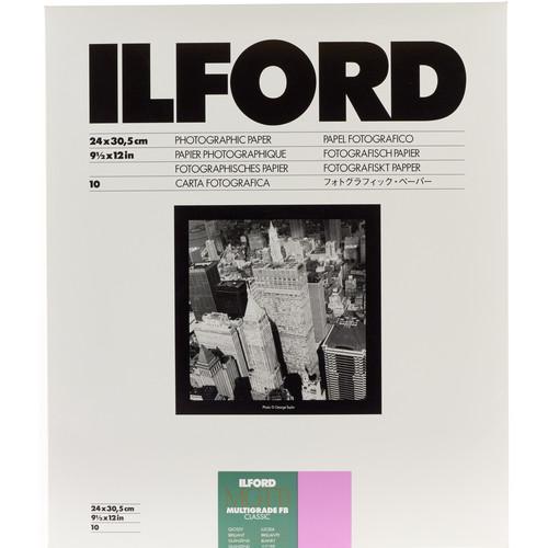 "Ilford Multigrade FB Classic Paper (Glossy, 9.5 x 12"", 10 Sheets)"