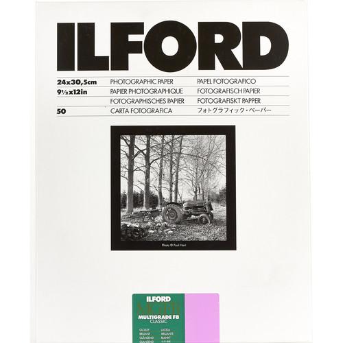 "Ilford Multigrade FB Classic Paper (Glossy, 9.5 x 12"", 50 Sheets)"