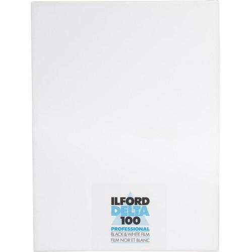 """Ilford Delta 100 Professional Black and White Negative Film (6.5 x 8.5"""", 25 Sheets)"""