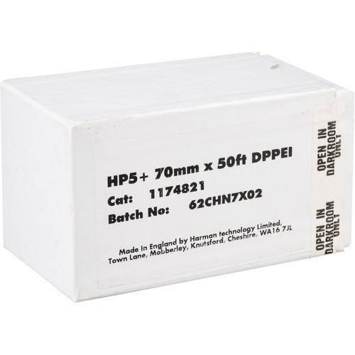 Ilford HP5 Plus Black and White Negative Film (70mm Double-Perforated Roll Film, 50' Roll)