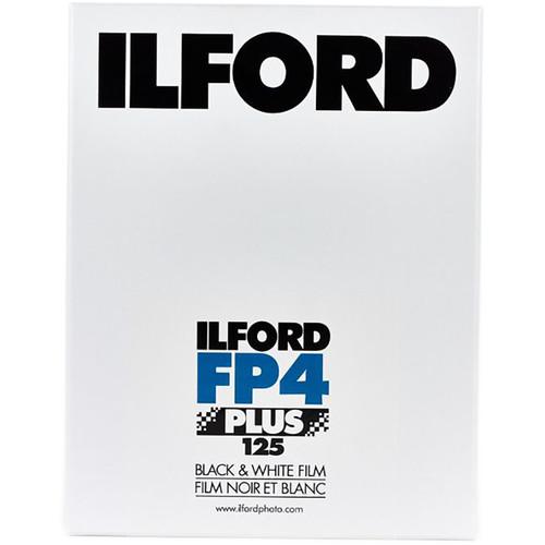 "Ilford FP4 Plus Black and White Negative Film (14 x 20"", 25 Sheets)"