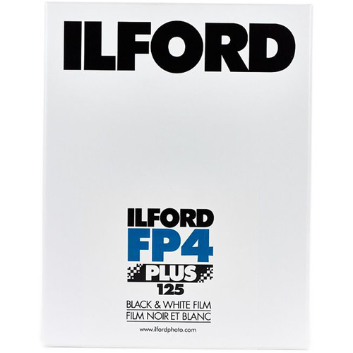 "Ilford FP4 Plus Black and White Negative Film (14 x 20"", 25 Sheets)"