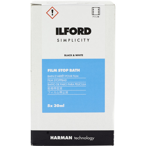 Ilford SIMPLICITY Stop Bath (30mL Sachet, 5-Pack)