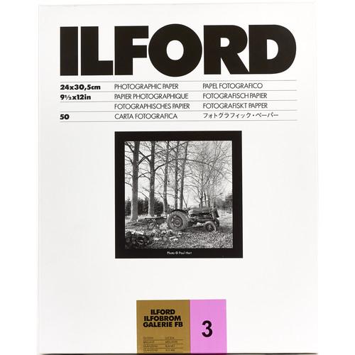 "Ilford ILFOBROM GALERIE FB Paper (Glossy, Grade 3, 9.5 x 12"", 50 Sheets)"