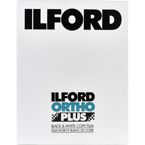 """Ilford Ortho Plus Black and White Negative Film (8 x 10"""", 25 Sheets, Expired 07/19)"""
