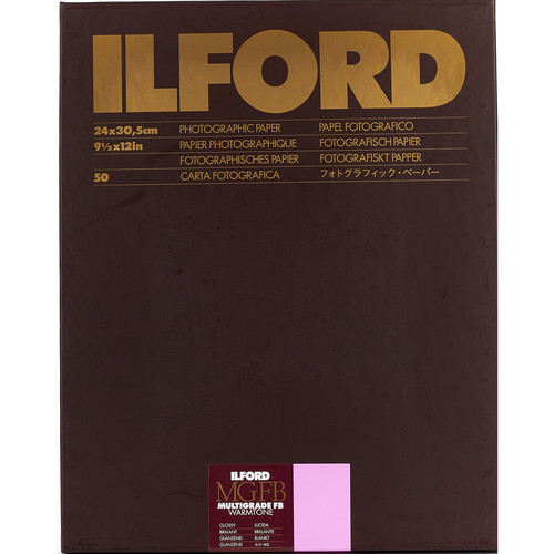 "Ilford Multigrade FB Warmtone Paper (Glossy, 9.5 x 12"" , 50 Sheets)"