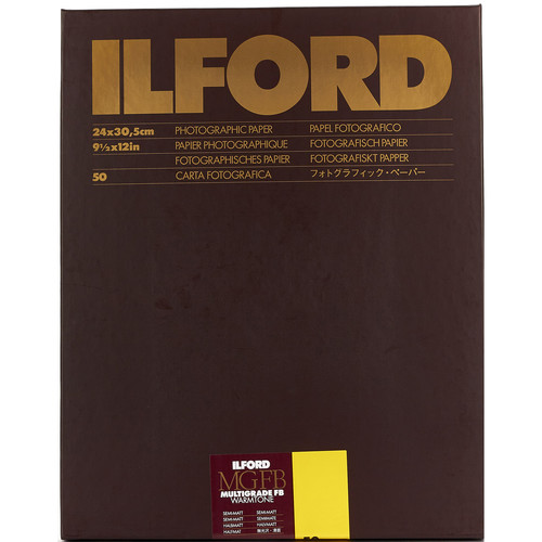 "Ilford Multigrade FB Warmtone Paper (Semi-Matt, 9.5 x 12"" , 50 Sheets)"