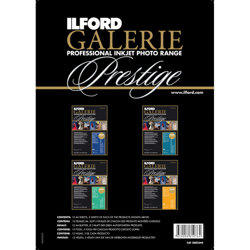 """Ilford GALERIE Prestige Fine Art Sample Photo Papers (8.5 x 11"""", 12 Sheets)"""