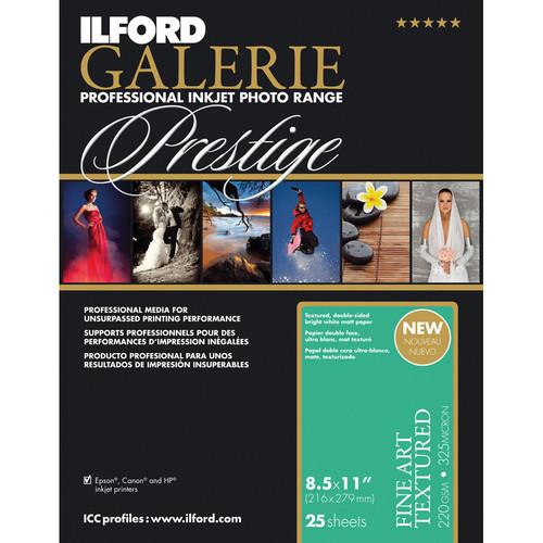 "Ilford GALERIE Prestige Fine Art Textured Paper (220 gsm, 8.5 x 11"", 25 Sheets)"