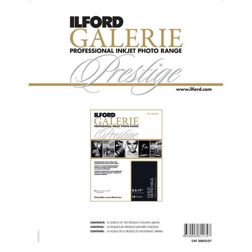 """Ilford GALERIE Prestige Gold Mono Silk Limited Edition Paper (8.5 x 11"""", 10 Sheets)"""