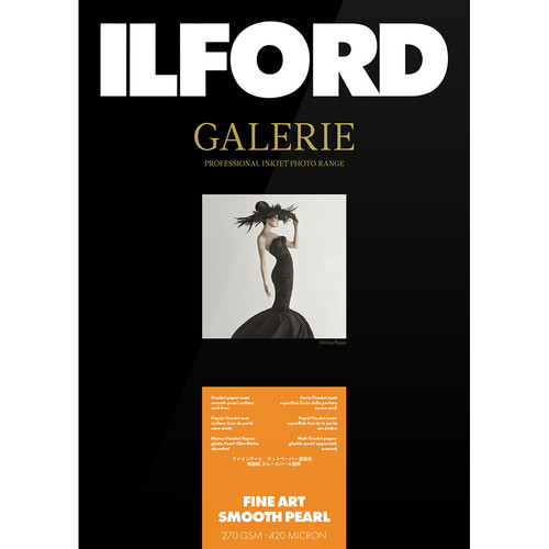 """Ilford Galerie Fine Art Smooth Pearl (13 x 19"""", 25 Sheets)"""