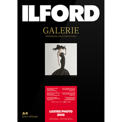 """Ilford Galerie Lustre Photo Duo 17x22"""" (25 Sheets)"""