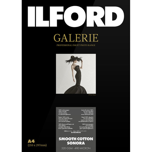 """Ilford Galerie Smooth Cotton Sonora (5 x 7"""", 50 Sheets)"""