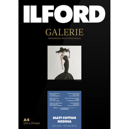 "Ilford Galerie Matte Cotton Medina Paper (11 x 17"", 25 Sheets)"