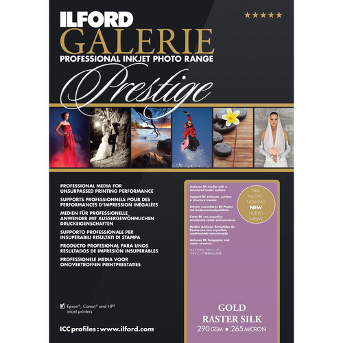 "Ilford GALERIE Prestige Gold Raster Silk Paper (13 x 19"", 50 Sheets)"