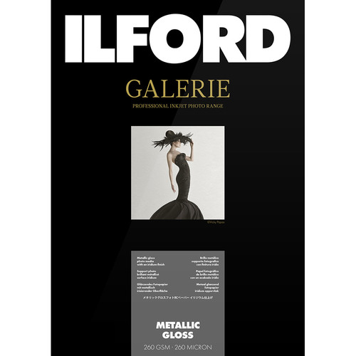 "Ilford GALERIE Prestige Metallic Gloss Paper (13 x 19"", 50 Sheets)"