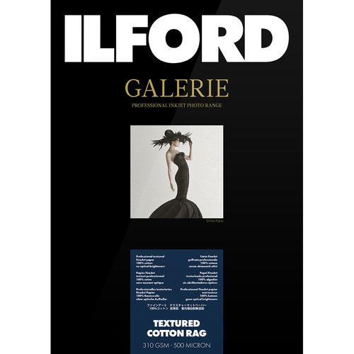 "Ilford GALERIE Prestige Textured Cotton Rag Paper (13 x 19"", 25 Sheets)"