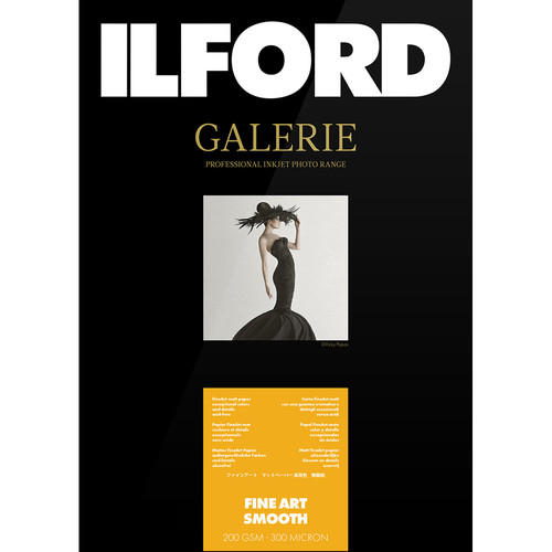 """Ilford GALERIE Prestige Fine Art Smooth Paper (200 gsm, 13 x 19"""", 25 Sheets)"""