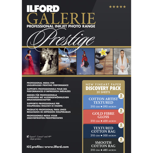 "Ilford GALERIE Prestige Fine Art Discovery Pack (8.5 x 11"", 20 Sheets)"