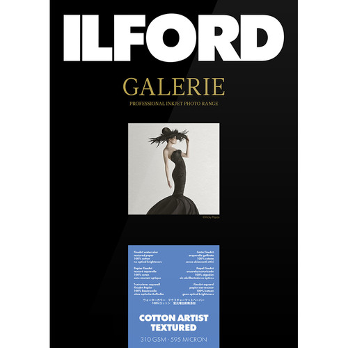 "Ilford GALERIE Prestige Cotton Artist Textured Paper (17 x 22"", 25 Sheets)"