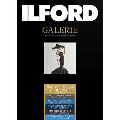 "Ilford GALERIE Discovery Fine Art Rag Paper Pack (8.5 x 11"", 25 Sheets)"