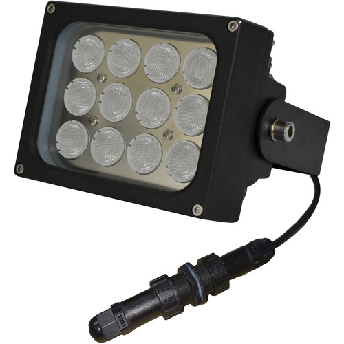 Iluminar WLC150-PoE Series Medium-Range White Light Illuminator (26', 120°, Black)