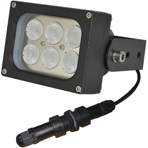 Iluminar WLC99-PoE Series Short-Range White Light Illuminator (13', 120°, Black)