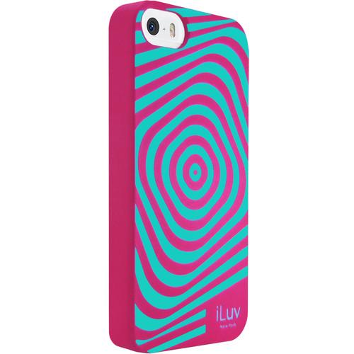 iLuv Aurora Illusion Glow-in-the-Dark Case for iPhone SE (Pink)