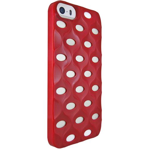 iLuv La Pedrera 3D Effect Hardshell Case for iPhone SE (Red)