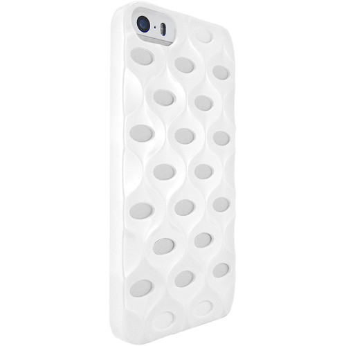 iLuv La Pedrera 3D Effect Hardshell Case for iPhone SE (White)