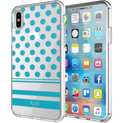 iLuv DotStyle Case for iPhone X/Xs (Blue)