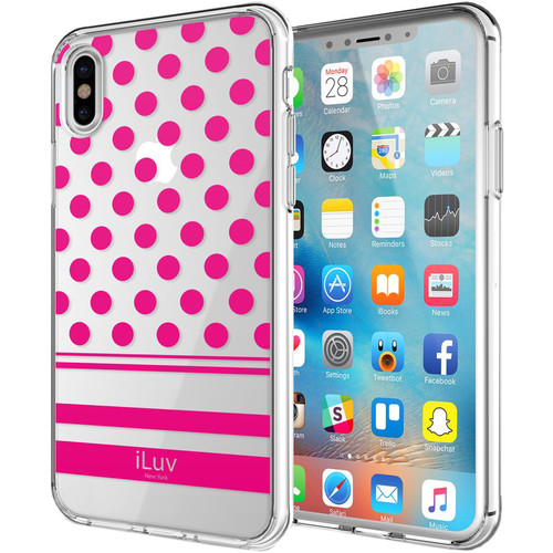 iLuv DotStyle Case for iPhone X/Xs (Pink)