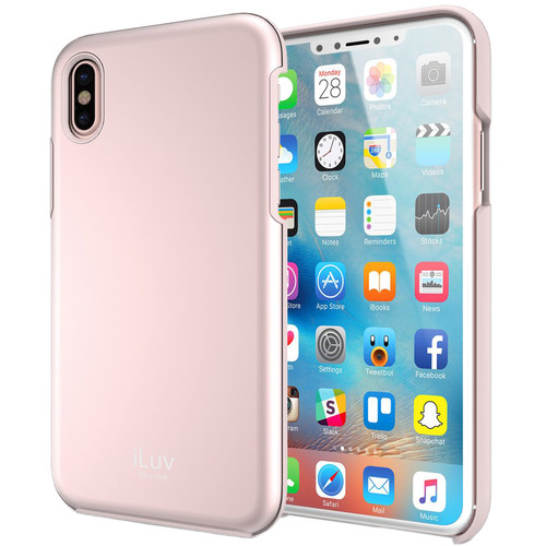 iLuv Metal Forge Case for iPhone X (Pink)