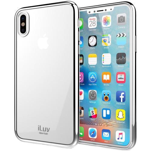 iLuv Metal Care Case for iPhone X (Silver)