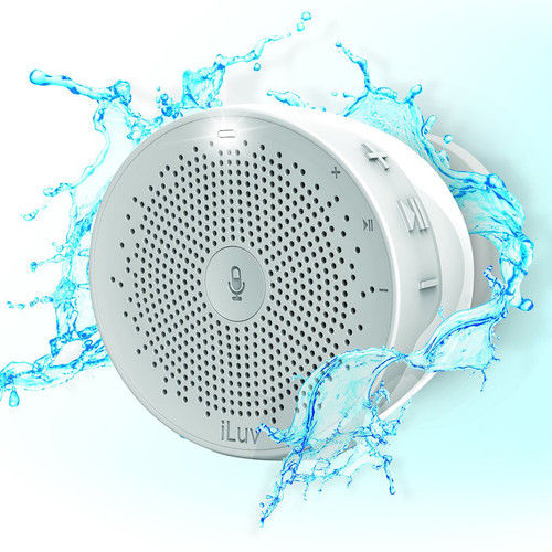 iLuv Aud Click Shower Speaker (White)