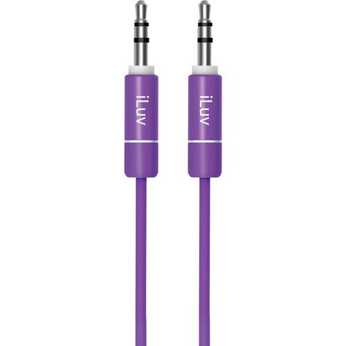 iLuv 3.5mm Premium Aux-In Audio Cable (3', Purple)