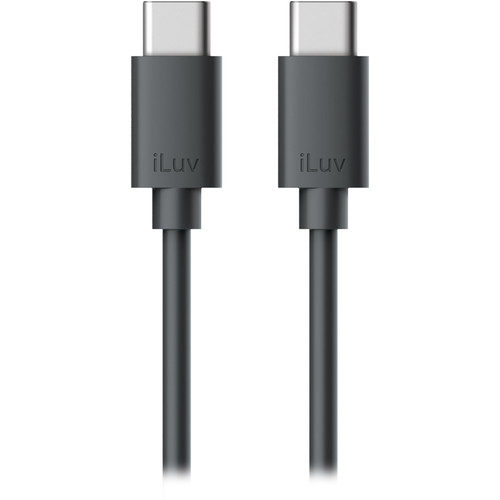 iLuv USB 2.0 Type-C Charge & Sync Cable (6', Black)