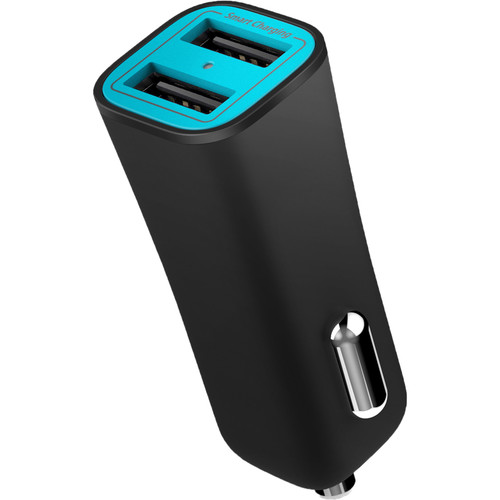 iLuv MobiSeal 2 Dual-Port USB Car Charger (Black)