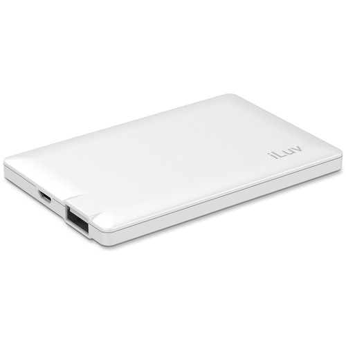iLuv myPower25 2500mAh Slim Portable Battery Pack (White)