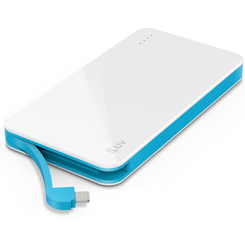 iLuv myPower50L 5000mAh Slim Portable Battery Pack (White)