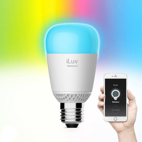 iLuv Rainbow8 Wi-Fi Smart LED Bulb with Dimmable Color