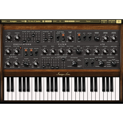 Image-Line Sawer Vintage Synth Modeling Plug-In