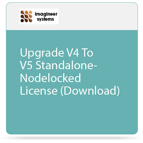 Imagineer Systems Upgrade V4 To V5 Standalone-Nodelocked License (Download)