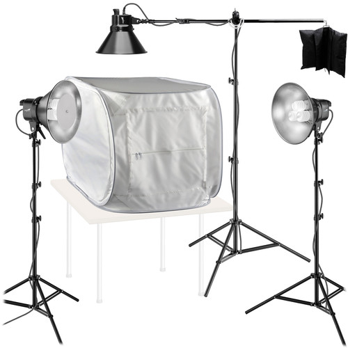 Impact 3-Light Fluorescent Kit with Digital Light Shed
