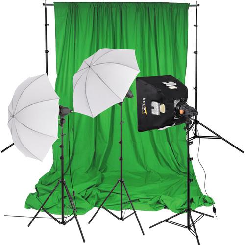 Impact 3-Light Green Screen Kit