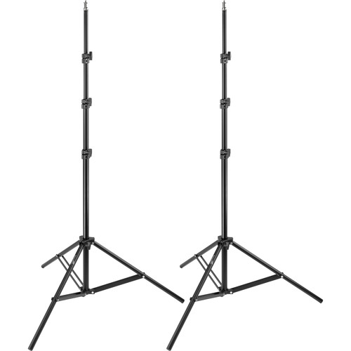Impact 8' Air-Cushioned Light Stand Kit (2-Pack)