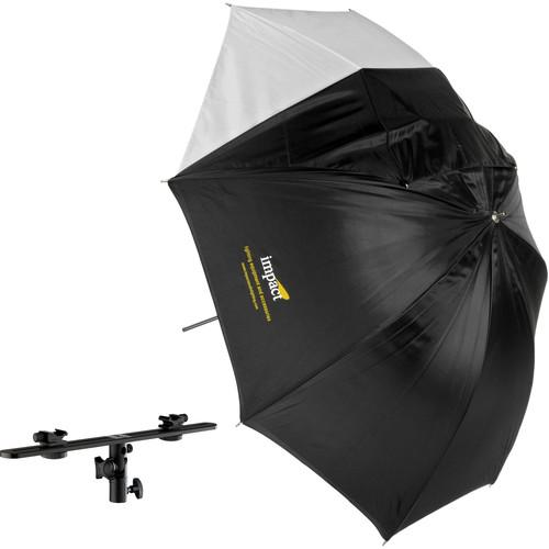 "Impact Adjustable Twin Shoe Umbrella Bracket with Convertible Umbrella (32"")"