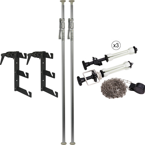 Impact Deluxe Varipole Support System with Metal Chain Kit